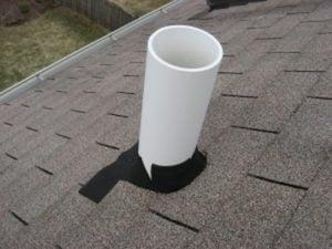 Roof Problems - Torn Neoprene Plumbing Stack Flashing